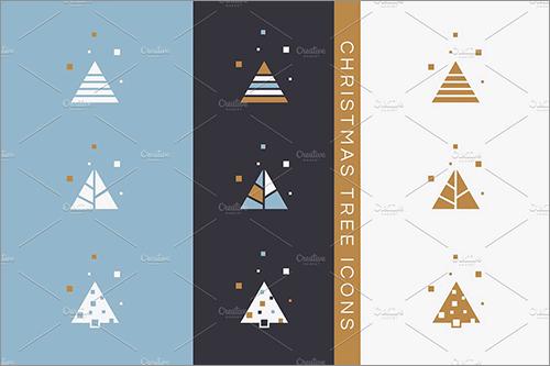 ちょっと大人の雰囲気モダンにデザインされたクリスマス用のイラストや