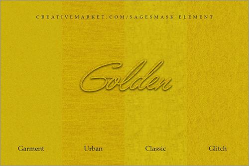 ゴールドのテクスチャ素材