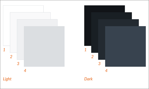洗練された明るいカラーと暗いカラー
