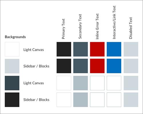 テキストのカラーを異なる背景色ごとに選択