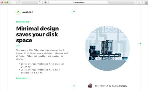 ミニマルデザインはファイルサイズも軽い