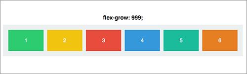 「flex-grow」に999を指定