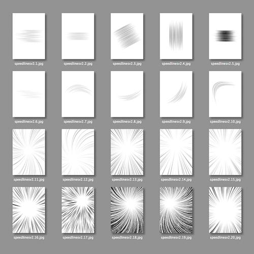 集中線や効果線を描く画像素材