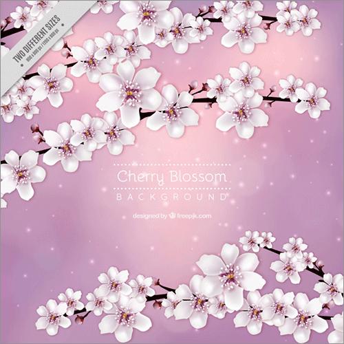 商用利用無料桜や桜の花びらのイラスト背景に使えるパターンなど桜