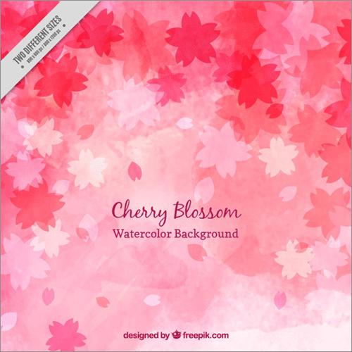 桜のパターン素材