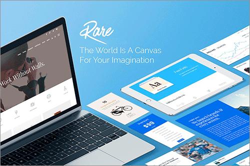 WordPressの多目的テーマファイル -Rare
