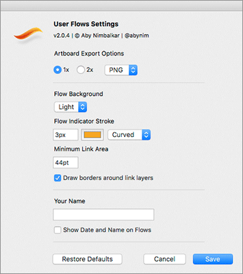 UserFlowsの設定パネル