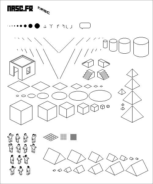 ピクセルアートのブラシ