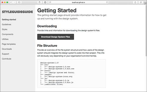 納品用のwebサイトのスタイルガイドが簡単に作成できるhtmlの