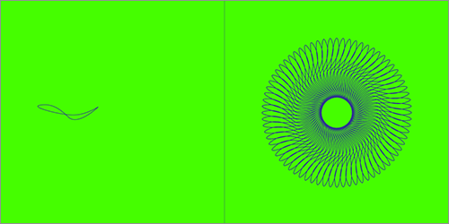 Looperで作成された幾何学模様の図形