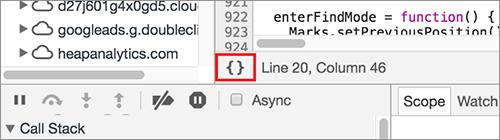 圧縮されたJavaScriptとCSSを読みやすくする