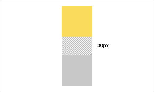 ブロックレベルで相殺される隣接する垂直マージン