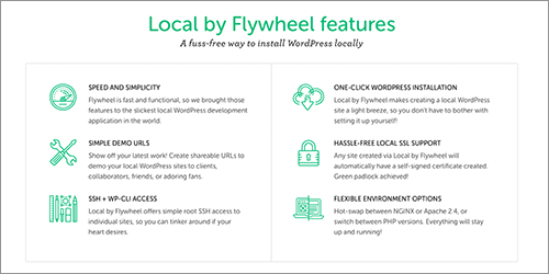 Local by Flywheelの特徴