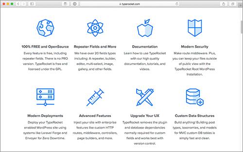 デザインが異なるランディングページも簡単に作成!WordPressの高性能な無料フレームワーク -TypeRocket