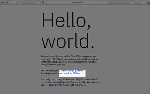 Ibm Plex Font