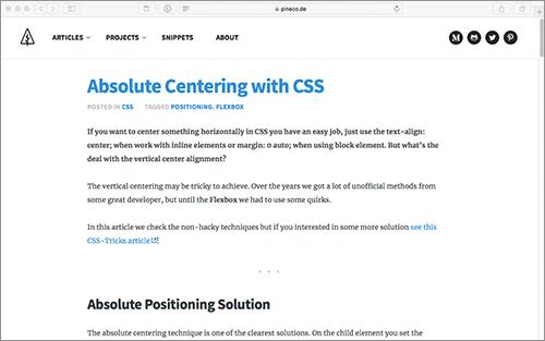 CSS]要素を上下左右の中央に配置、最近主流になっている実装方法