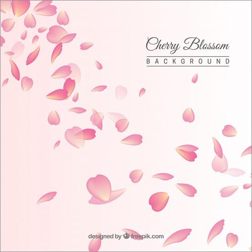 全部商用利用無料桜のイラスト桜の花びらのイラストが描かれた