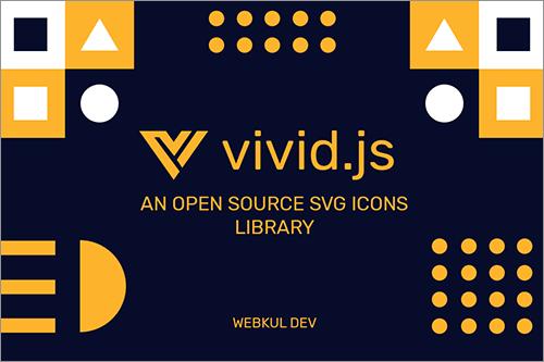 すごい簡単!UIデザイン用のさまざまなSVGアイコンをカスタマイズして利用できるJavaScriptライブラリ -vivid.js