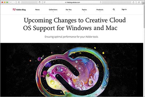 adobe creative cloudの次期バージョンは windows 8 1 10 古い