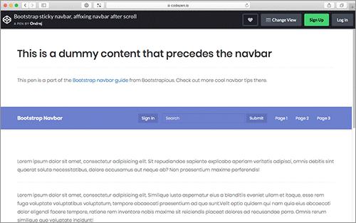 Bootstrap ナビゲーションバー(Navbar)のカスタマイズ方法と