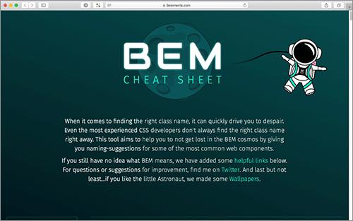 これでもうCSSのクラス名は迷わない!BEMの命名規則をまとめたチートシート -BEM Naming Cheat Sheet