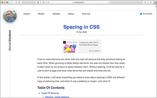 CSSにおけるスペースの与え方、paddingやmarginなどを使った実装テクニックを詳しく解説