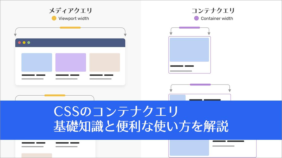 CSS コンテナクエリの基礎知識と便利な使い方を解説