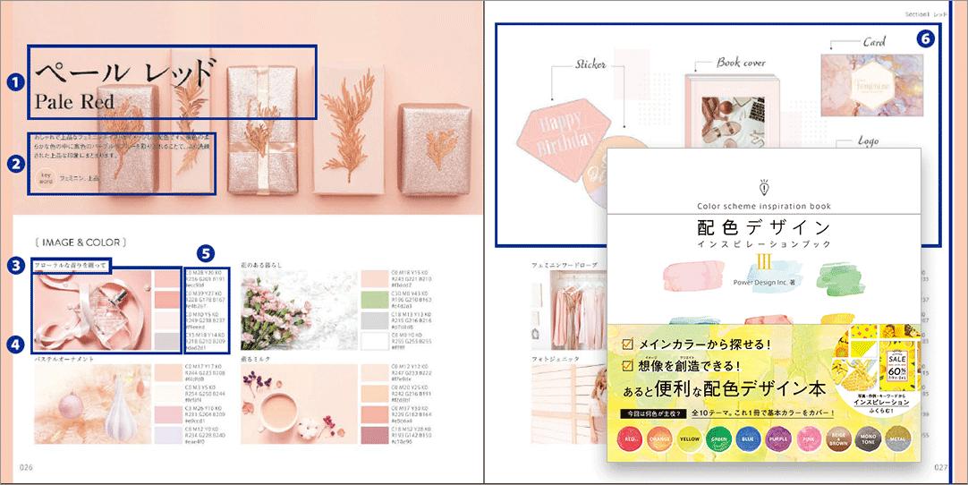 実用性が高い配色本!カラー縛りのデザインやイラストにすごく使える -配色デザインインスピレーションブック 3