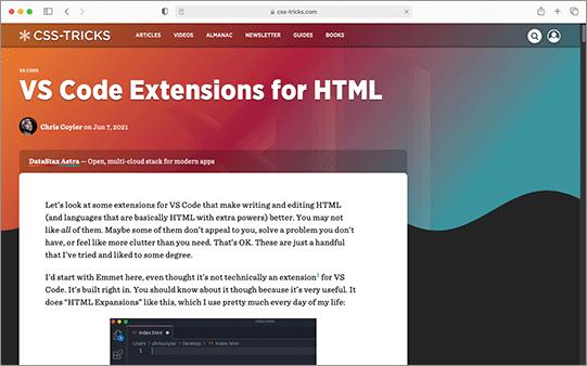 HTMLを書いたり、修正する時に役立つVS Codeの機能拡張のまとめ