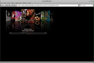 Flash iTunes Cover Flow Version 2