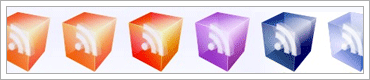 40 Vector Translucent 3D Look RSS Icons