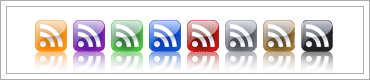 Free Glass Style RSS Feed Icons
