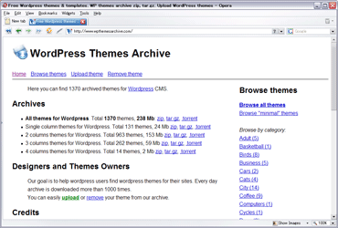 WordPress Themes Archive