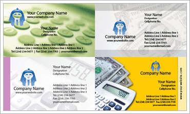Accounting Business Cardのサンプル