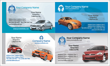 Automotive Business Cardのサンプル