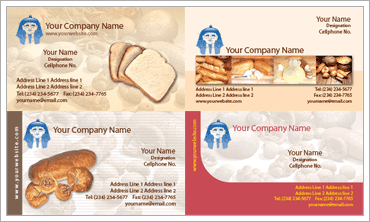 Bakery Business Cardのサンプル