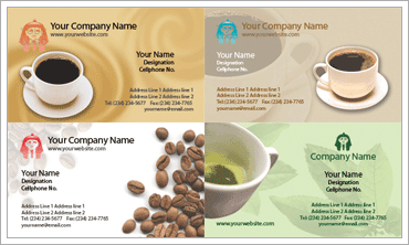 Coffee and Tea Business Cardのサンプル
