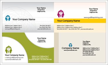 Corporate Business Cardのサンプル