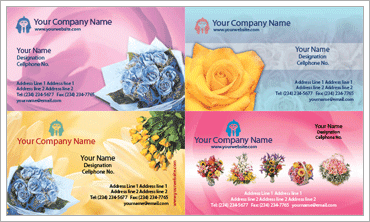 Florist Business Cardのサンプル