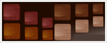Wood RSS Feed Iconsのキャプチャ
