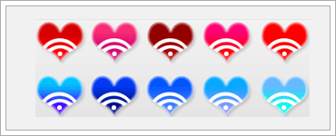RSS Heart PNG Iconsのキャプチャ