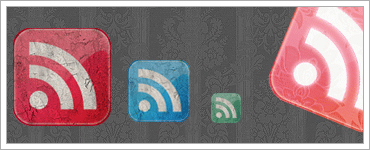 Grunge Style Rss Feed Iconsのキャプチャ