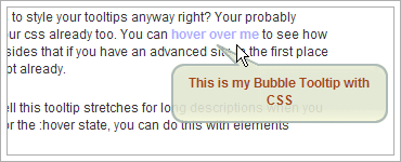 CSS Bubble Tooltipsのキャプチャ