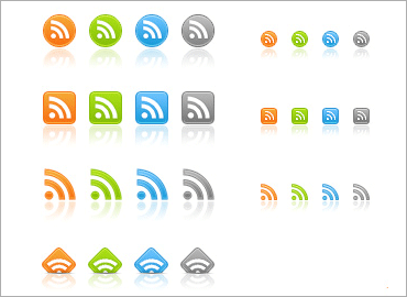 Free web 2.0 RSS iconsのキャプチャ