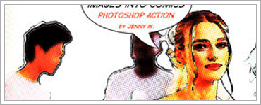 Comics Photoshop actionのキャプチャ
