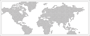Dotted world map vector resourceのクリップ