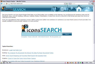 Icons Search Engineのキャプチャ