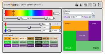 HTML Color Combination Chooserのキャプチャ