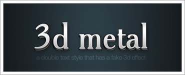 6 Quick'n'Dirty Photoshop Text Effectsのクリップ:その2