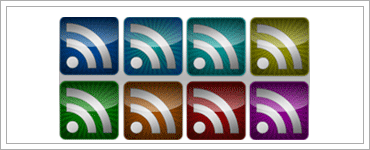 Freebies: RSS Feed Icons - Glassy Setのキャプチャ